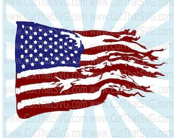 American Flag SVG Cut File