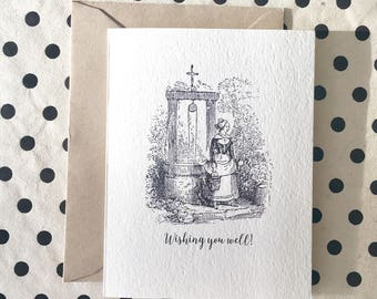 Wishing You Well Card, Get Well Soon Card,  Funny Friendship Card, Funny Greeting Card