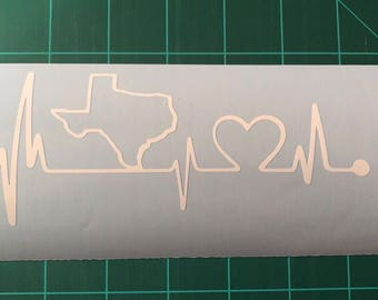 Texas heartbeat window decal!