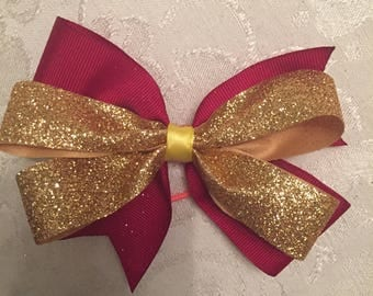 Harry Potter Gryffindor House inspired bow