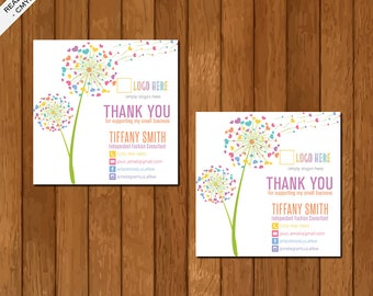 LLR Lula Sticker, Thank You Sticker, Home Office Approved, Dandelion, Printable Card, Marketing, Fashion Consultant Retailer 01