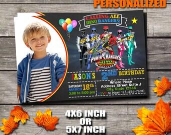Power Rangers Invitation / Power Rangers Birthday Invitation / Boy Invitation / Boy Birthday Invitation / Birthday Invitation / Invitation