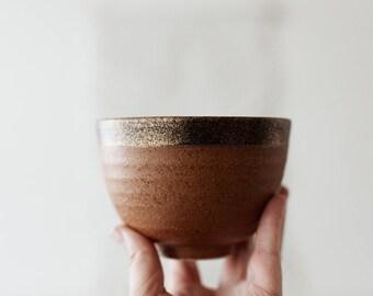 Vintage Golden Speckled Ceramic Bowl