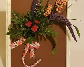 3D Multi-color Floral Framed Art 8 x 10
