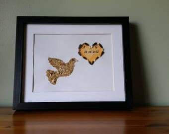 Personalised Gift Hand Made Keepsake Art Bird Seed