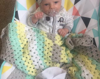 Small Crocheted Baby Blanket