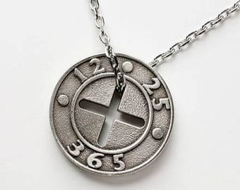 Silver OX Plated Pendant with Stainless Steel Chain