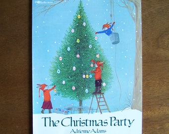 The Christmas Party by Adrienne Adams - Children's Book - Rabbits, Bunnies