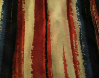M Red White & Blue Rolled Hem Scarf