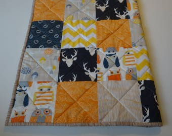 Owl Woodland Baby Quilt