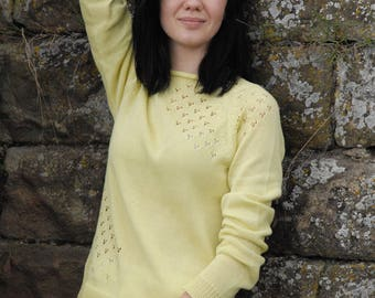 "Thin, delicate sweater ""ANNA"" from cotton yarn"