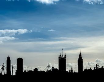 Digital London Skyline Photo