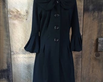 Vintage Ruffle Coat Jacket