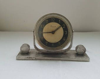 Antique Hungarian Danuvia Mechanical Alarm Clock / Antique Alarm Clock / Non Working Clock