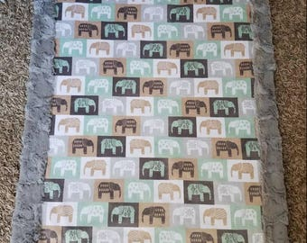 Safari Elephant Baby Blanket