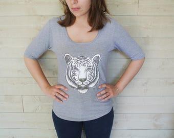 T-Shirt women Tiger Illustration