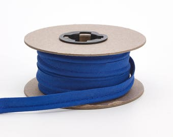 """Broadcloth cord piping, 1/2"""" Wide, 25 yds, Cobalt"""