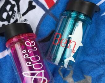 CLOSEOUT! Super Cute Personalized Kids 10 oz. Water Bottle, personalized boys water bottle, personalized girls water bottle
