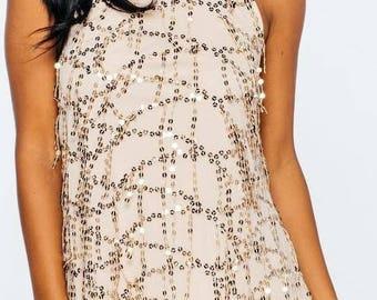 Halter sequin party dress