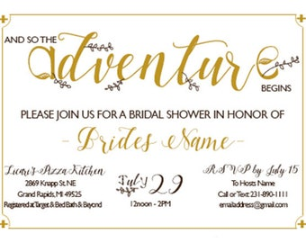 Adventure Bridal Shower Invite