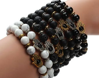 New Black Lava Stone Bracelets