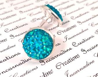 Sparkle druzy stone post earrings