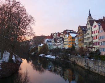 Tübingen at Sunset - Signiert Photo 1-5th copie