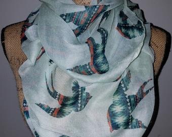 Santa Fe Viscose swallow bird infinity scarf