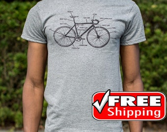 Bike Shirts, Anatomy Shirt, Bicycle Gift, Cycling Clothing, Adventure Tee, Free Shipping Worldwide, New, For Men And Women, Size S, M, L, XL