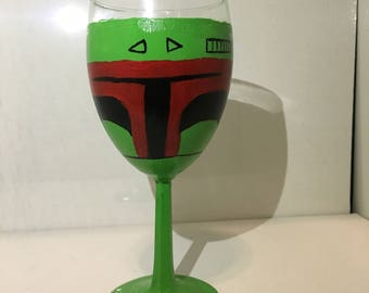 Boba Fett Wine Glass