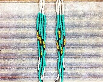 Tribal Native American Seed Bead Earrings | Mirage
