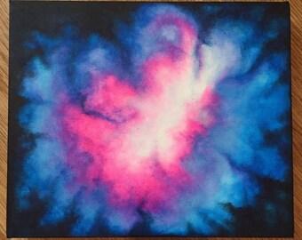 Original Acrylic on Canvas Galaxy painting