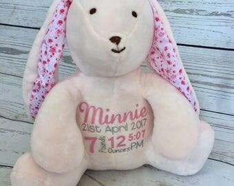 Personalised Birth Stat Bunny