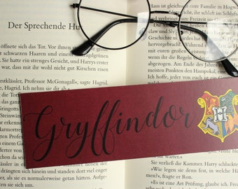 Harry Potter bookmark GRYFFINDOR