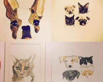 Custom Watercolours - Pets