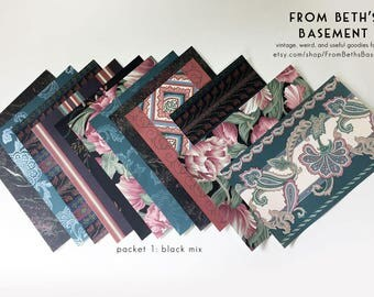 Designer Wallpaper Sample Packs - Wallpaper Sheets for Scrapbooking and Cardmaking - Eclectic Florals & Paisleys - Choose Your Mix