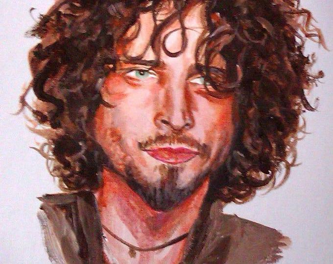 Chris Cornell Framed 11x17