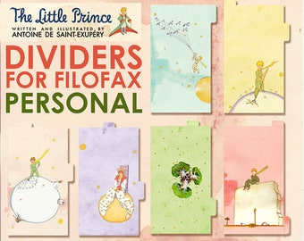 Petit Prince _ dividers for PERSONAL planner