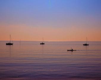 Solitary Canoe Print          09100-04005