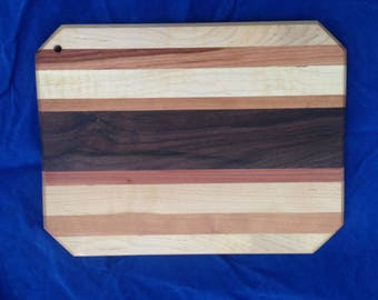 Handcrafted Cutting Board: Reclaimed American Hardwoods