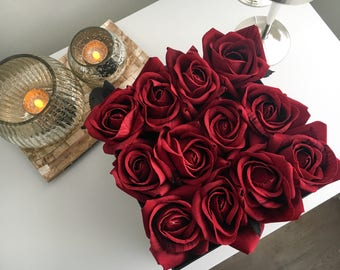 Artificial Flowers, Gifts For Her, Wedding Flowers, Red Roses, Wedding Decor