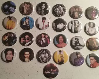 Prince 25 Pinback Button Collection