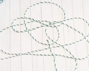 Baker Twine, Cord, String green white, 10m or more