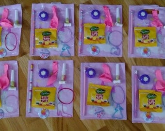 Ready Made Up Especially for your PRINCESS PARTY Eight Party Favour Bags plus Co ordinating Party Invitations
