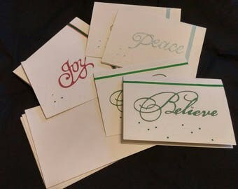 Elegant Christmas Note Cards
