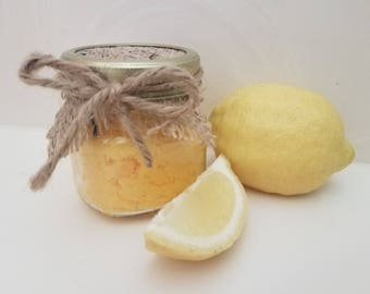 Lemon Sugar Scrub in 8oz jar