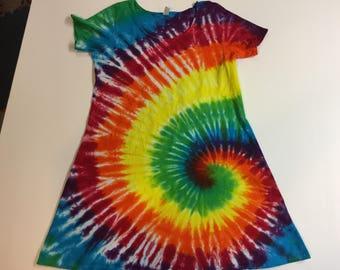 Tie Dyed Spiral Dress Size XL