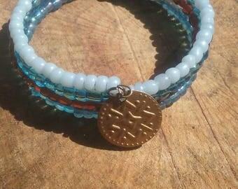 Memory wire bracelet. Boho, hippy, fun, inspirational jewelry