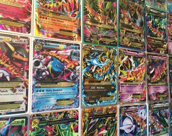 Pokemon Cards : 10 Card Lot GUARANTEED 1 GX/EX! Mega Ex, Break, or Full Art Card.