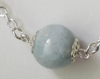 aquamarine necklace march birthday